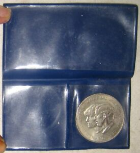 Wedding Prince Charles & Diana commemoration coin in wallet