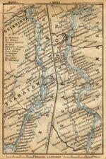 Volga River [Kamyshin - Saratov -Volsk - Syzran]. Russia. BAEDEKER 1912 map