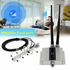 LCD GSM 900Mhz Cell Phone Signal Repeater Booster Amplifier+Yagi Antenna EU Plug