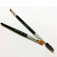 NEW Double Sided Ended Eyebrow Makeup Wand Brow Shaping Angled Eyelash Brush
