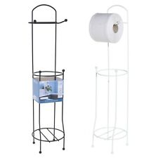 Free Standing 4 Roll Metal Toilet Tissue Paper Holder Bathroom Dispenser Stands