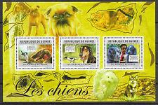 Hunde/ Guinea MiNr 8909/11 ** Kleinbogen