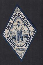 Ancienne  étiquette Fromage Hollande   BN11583 Gouda Homme