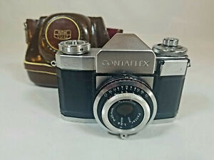 Vintage Zeiss Ikon Contaflex 35 MM Film Camera w Orig Case Super Clean