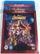 AVENGERS: INFINITY WAR New 3D + 2D BLU-RAY w/ SLIPCOVER 2-Disc Set MCU Marvel