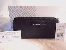 Lodis Cordoba Ada Clutch Wallet Black Leather RFID NWT MSRP $108 REDUCED