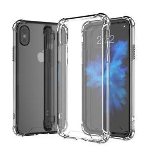TPU Soft Transparent/Hard TPU  Clear Case+Glass Screen Protector for Iphone X