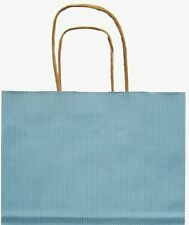 "Paper Shopping Bags 100 Pastel Blue 16"" x 6 x 12 ½"" Retail Merchandise Handles"