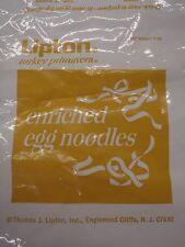 "Vintage 70's Lipton Tea Turkey Primavera Dinner Plastic Wrapper Paper 20ft x 16"""