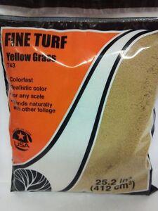 Woodland Scenics T43 Fine Turf Yellow Grass (18 cu.in.) - NIB