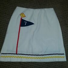 Vintage Haymaker White Ric Rac Trim Detail GOLF Golf club  Mini Skirt Skort Sz 8