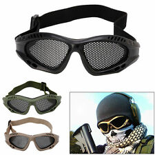 Outdoor Tactical Airsoft CS Hunting Eye Protection Goggles Metal Mesh Glasses