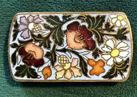 Broche bijoux EMAUX CLOISONNES France époque NAPOLEON III 19TH XIXe