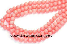 6mm Natural Japan Sea Pink Coral Gemstones Round Loose Bead 15""