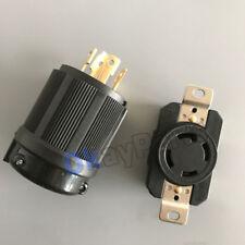 UL Approved L14-30P NEMA L14-30R 30A 125V-250V Locking Male Receptacle Female