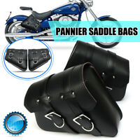 Pair Universal Motorcycle Autobike Saddlebags Saddle Bags Pouch Touring Cruiser