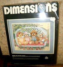 Dimensions - Bears on Wicker Swing needlepoint - NIP - Orig. $31.99