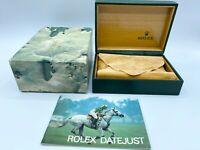 VINTAGE GENUINE ROLEX DATEJUST watch box case 68.00.55 booklet 022726 1980's