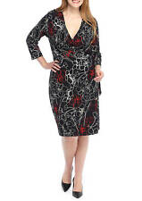 The limited Plus Size Print Wrap Dress Size 2X
