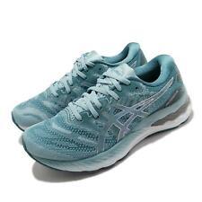 Asics GEL-NIMBUS 23 дыма синие Синие серебряные женские беговая обувь, кроссовки 1012A885-400