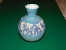 MESA VERDE BLUE LILAC POTTERY NAVAJO VASE SIGNED R SILAS NATIVE AMERICAN USA