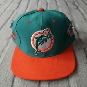Vintage New Miami Dolphins Hat by Starter 90s Cap Fitted