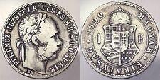 1 FIORINO 1890 KB UNGHERIA HUNGARY ARGENTO SILVER #5139