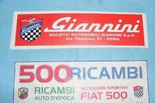 FIAT 500 F/L/R ADESIVO GIANNINI PER LUNOTTO POSTERIORE TIPO ORIGINALE 500TV 590