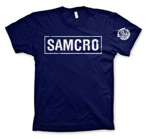 Official Licensed Sons Of Anarchy (SOA) - SAMCRO Distressed T-Shirt S-XXL