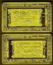 ★★★ JOLI MEDAILLE PLAQUéE OR ● BILLET DE 5000 FRANCS FLAMENG ★★★