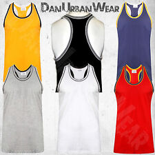 Men's Racerback Muscle Vest Sleeveless Tank Top Gym Weightlifting M to 5XL