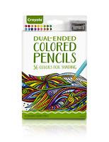 Crayola Dual-Ended Colored Pencils, 36 Colors Bonus Sharpener Premium Art Tools