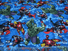 1 Yard Quilt Cotton Fabric- Springs Marvel Avengers Ironman United Action Shot
