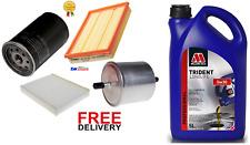 FORD FIESTA MK6 1.25 1.4 16V OIL AIR FUEL CABIN FILTER & ENGINE OIL SERVICE KIT