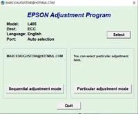 Reset Epson L405 printer Adjustment Program RESETTER 1 PC