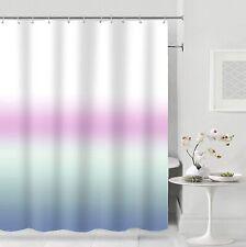 Blue Pink Pruple White Gradient Boho Chic Glam Fabric Shower Curtain + Hooks