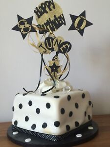 Cake Topper Personalised Champagne Bucket Birthday Any Age Name