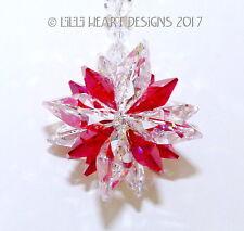 m/w Swarovski Clear + Rare Light Siam SUPER STAR Suncatcher Lilli Heart Designs
