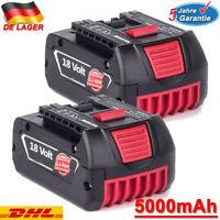 2X Für Bosch 18V Li-ion Ersatzakku 5,0Ah GBA GSR GSB BAT618 BAT609 BAT620 BAT611