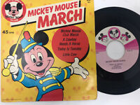 """Mickey Mouse Club – Mickey Mouse March Vinyl Record 45 RPM 7"""" 1975"""