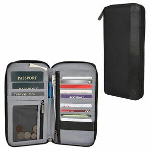 Travelon Safe ID RFID Proof Zip Card Holder Clutch Wallet Passport Organizer New
