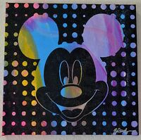 GAIL RODGERS MICKEY MOUSE HAND PULLED SILKSCREEN AND ACRYLIC SIGNED 1 OF A KIND
