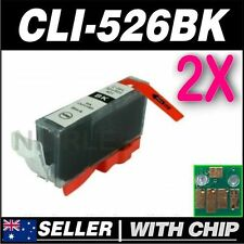 2x Black Ink for CANON CLI-526BK for iP4850 iP4950 iX6550 MG5150 MG5250 MG5350