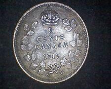 1917 CANADA 5 CENTS KM#22 -92.5% SILVER#15259