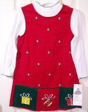 NWT Rare Editions Christmas Holiday Red Corduroy Jumper Set w/ SURPRISE, 6X, $40