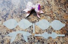 Dolphin Tail Hairbow Template- Make Your Owns Bows- Plastic Bow Template