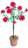 Dolls House FLOWER KIT RED STANDARD ROSE miniature garden  flower 12th