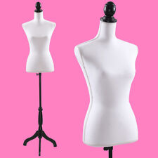 5.6 ft H Female Mannequin Torso Dress Clothing Form Display W/Black Tripod Stand