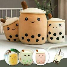 Bubble Tea Boba Cup Soft Stuffed Plush Pillow Cushion Kawaii Cute Brown White