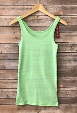 Women's Merona Lime Green Heather Tank top sleeveless New size XS, S, M L, XXL